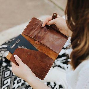 Handbags - Leather Passport Wallet